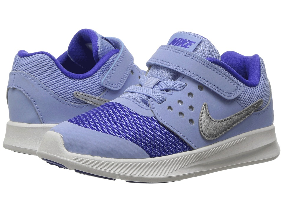 Nike Kids - Downshifter 7 (Infant/Toddler) (Aluminum/Metallic Silver/Paramount Blue) Girls Shoes