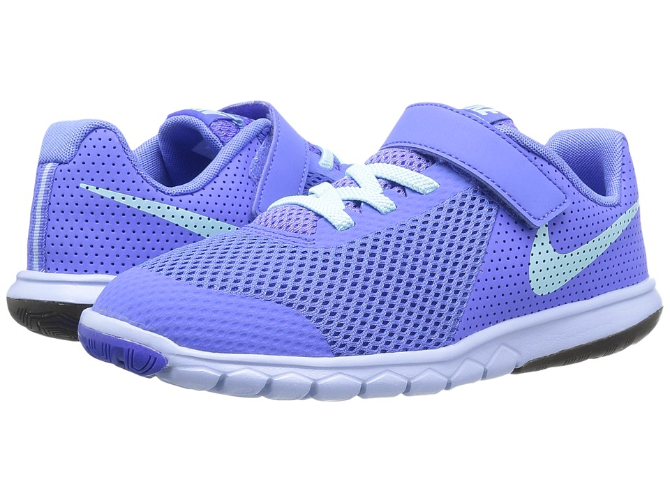 Nike Kids - Flex Experience 5 (Little Kid) (Medium Blue/Still Blue/Aluminum/Black) Girls Shoes