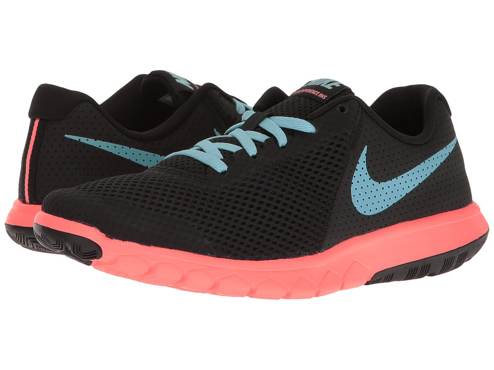 Nike Kids - Flex Experience 5 (Big Kid) (Black/Still Blue/Lava Glow) Girls Shoes