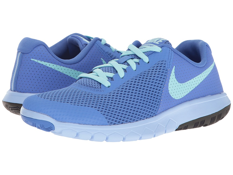 Nike Kids - Flex Experience 5 (Big Kid) (Medium Blue/Still Blue/Aluminum/Black) Girls Shoes