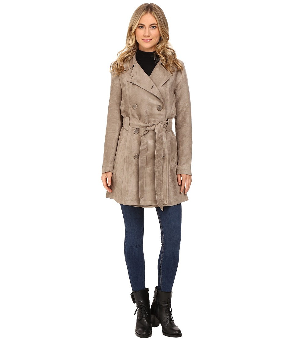 Jack by BB Dakota - Edsel Faux Suede Trench Coat (Stone Brown) Women's Coat