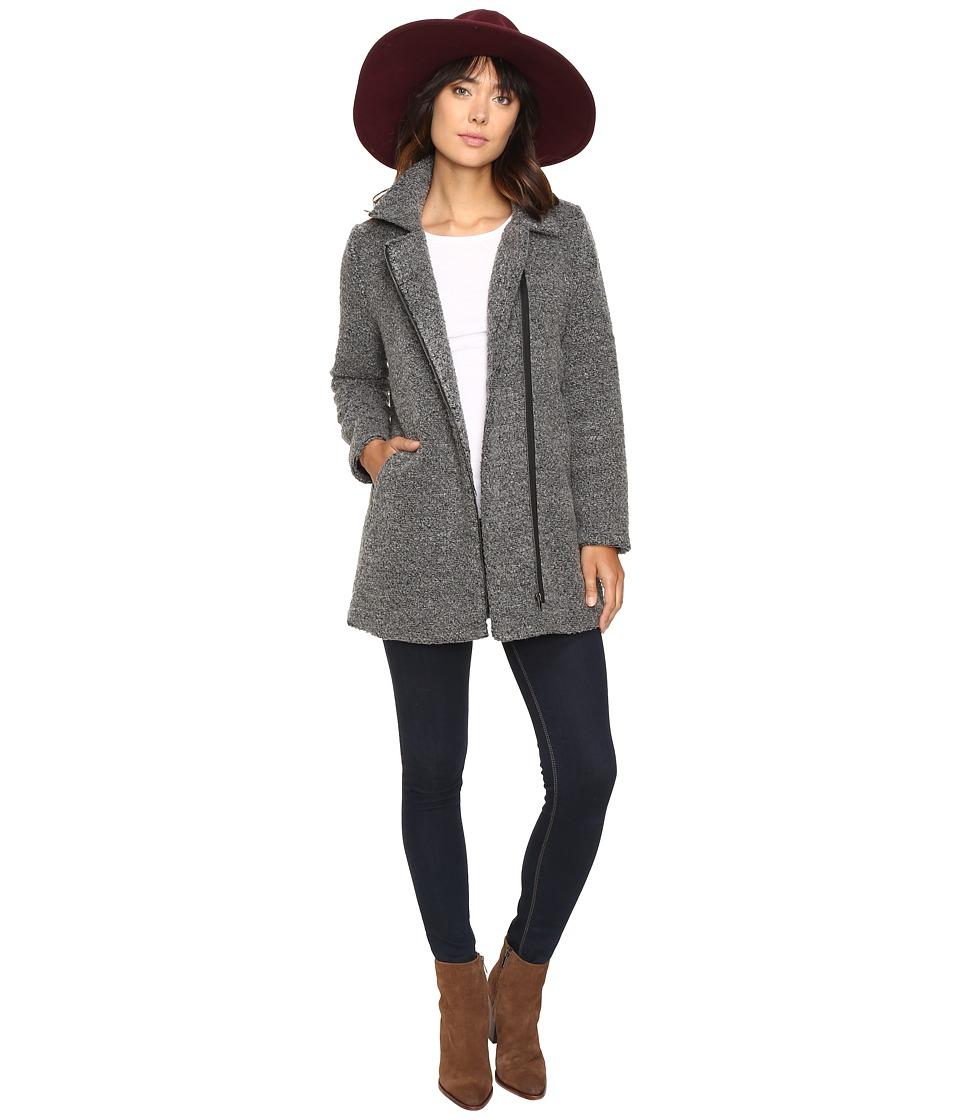 Jack by BB Dakota - Kantor Boucle Zip-Up Coat (Dark Charcoal) Women's Coat