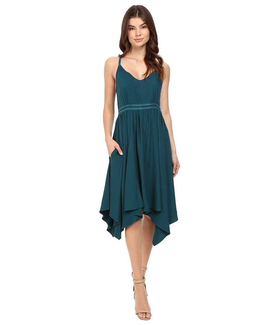 Jack by BB Dakota - Gordana Dress w/ Faux Suede Trim (Juniper Green) Women's Dress
