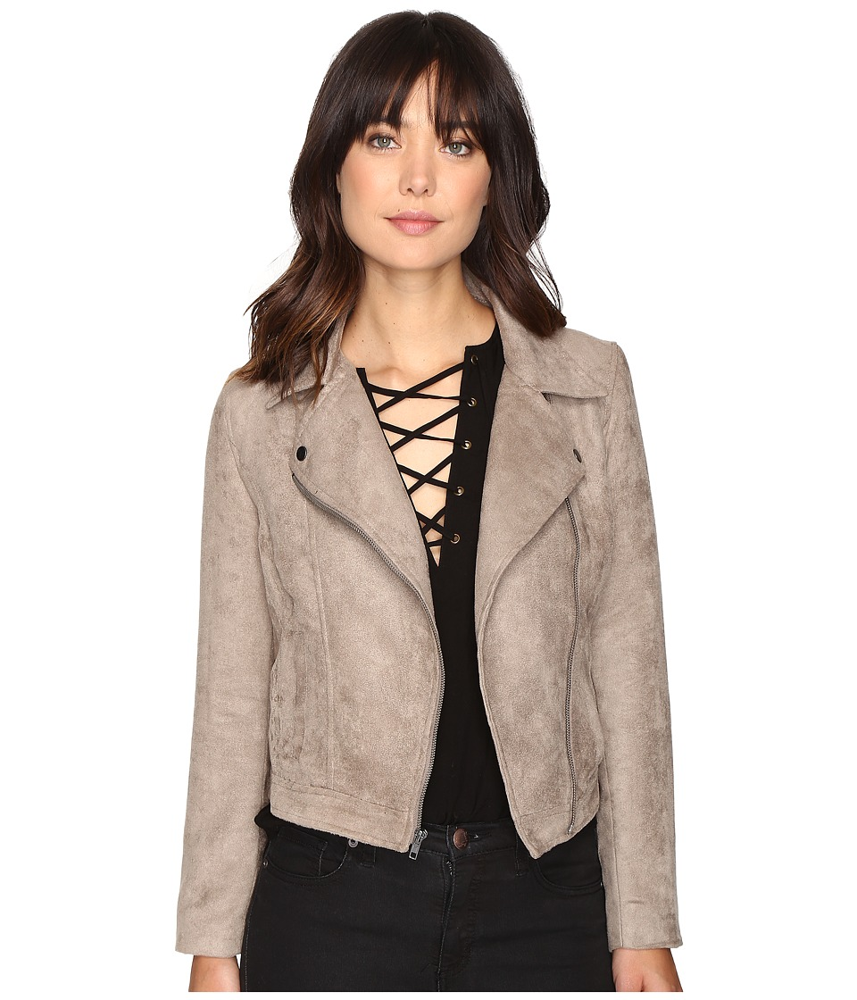Jack by BB Dakota - Marilou Faux Suede Moto Jacket (Stone Brown) Women's Coat