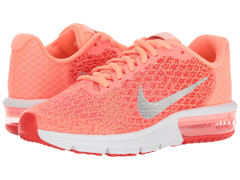 Nike Kids - Air Max Sequent 2 (Big Kid) (Lava Glow/Metallic Silver/Max Orange) Girls Shoes