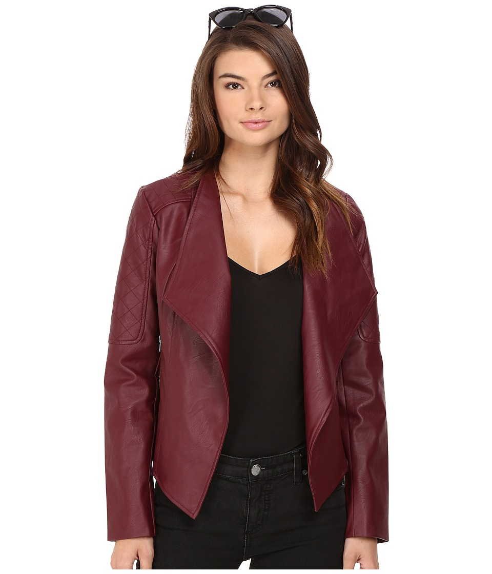 Jack by BB Dakota - Fernand Textured PU Jacket (Burnt Red) Women's Coat
