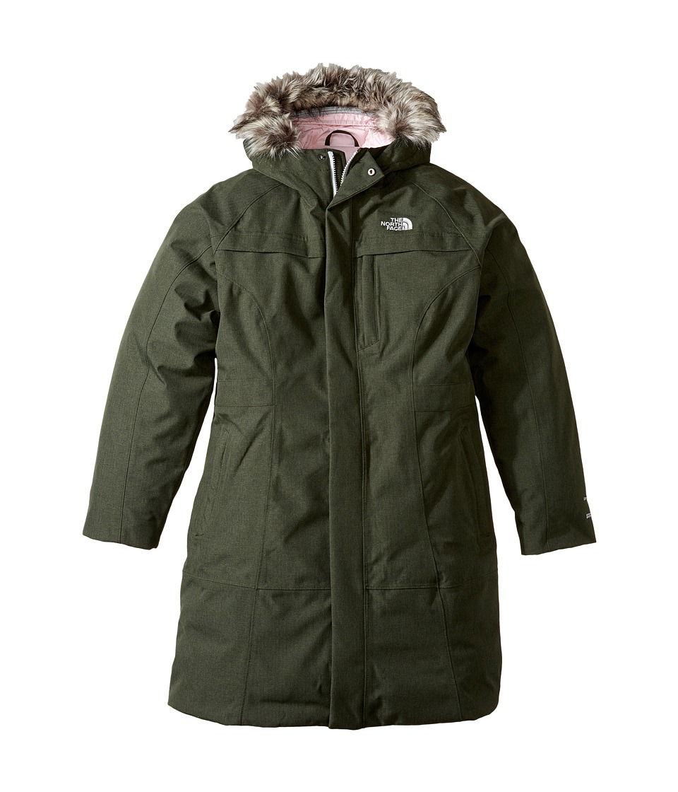 The North Face Kids - Arctic Parka (Little Kids/Big Kids) (Climbing Ivy/Green Heather) Girl's Coat