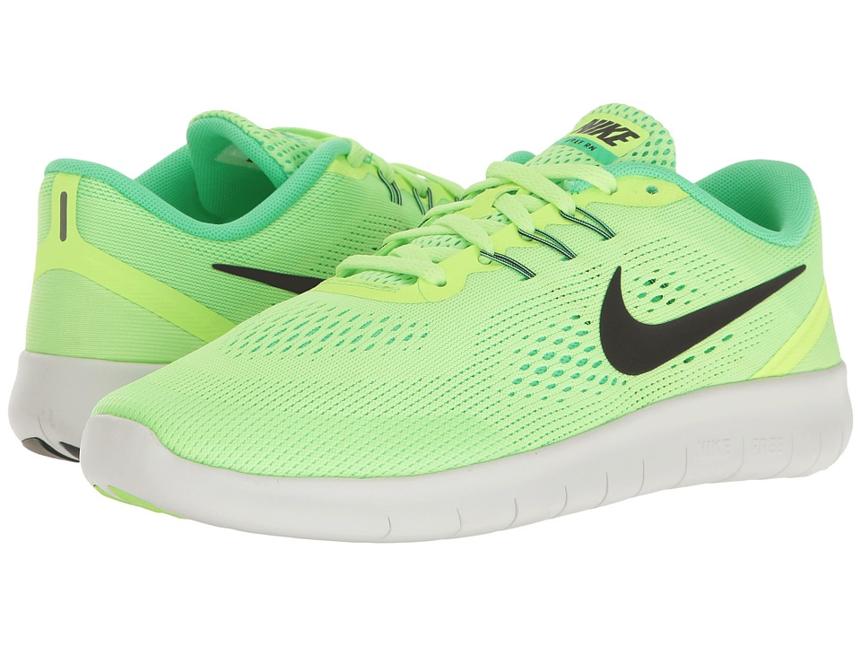 Nike Kids - Free RN (Big Kid) (Ghost Green/Black/Electro Green) Girls Shoes