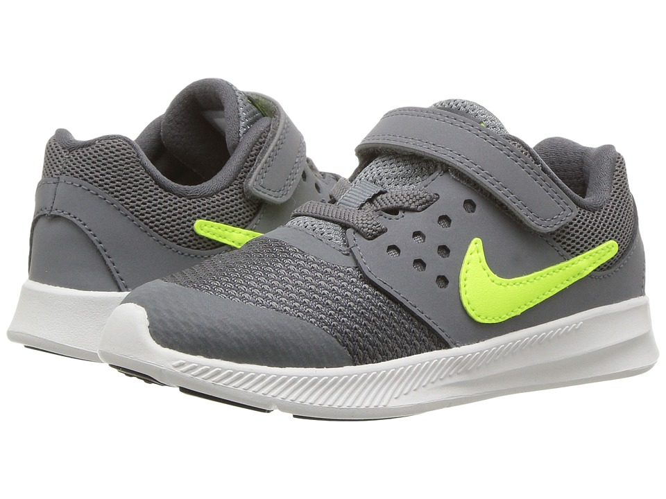 Nike Kids - Downshifter 7 (Infant/Toddler) (Cool Grey/Volt/Dark Grey/White) Boys Shoes
