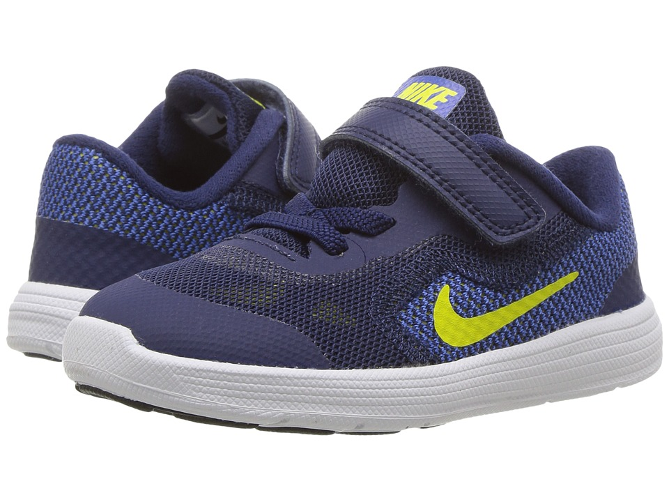 Nike Kids - Revolution 3 (Infant/Toddler) (Binary Blue/Electrolime/Paramout Blue) Boys Shoes