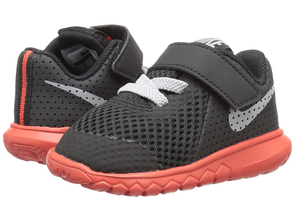 Nike Kids - Flex Experience 5 (Infant/Toddler) (Black/Wolf Grey/Max Orange) Boys Shoes