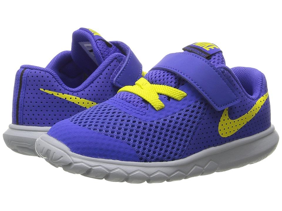 Nike Kids - Flex Experience 5 (Infant/Toddler) (Paramount Blue/Electrolime/Black) Boys Shoes