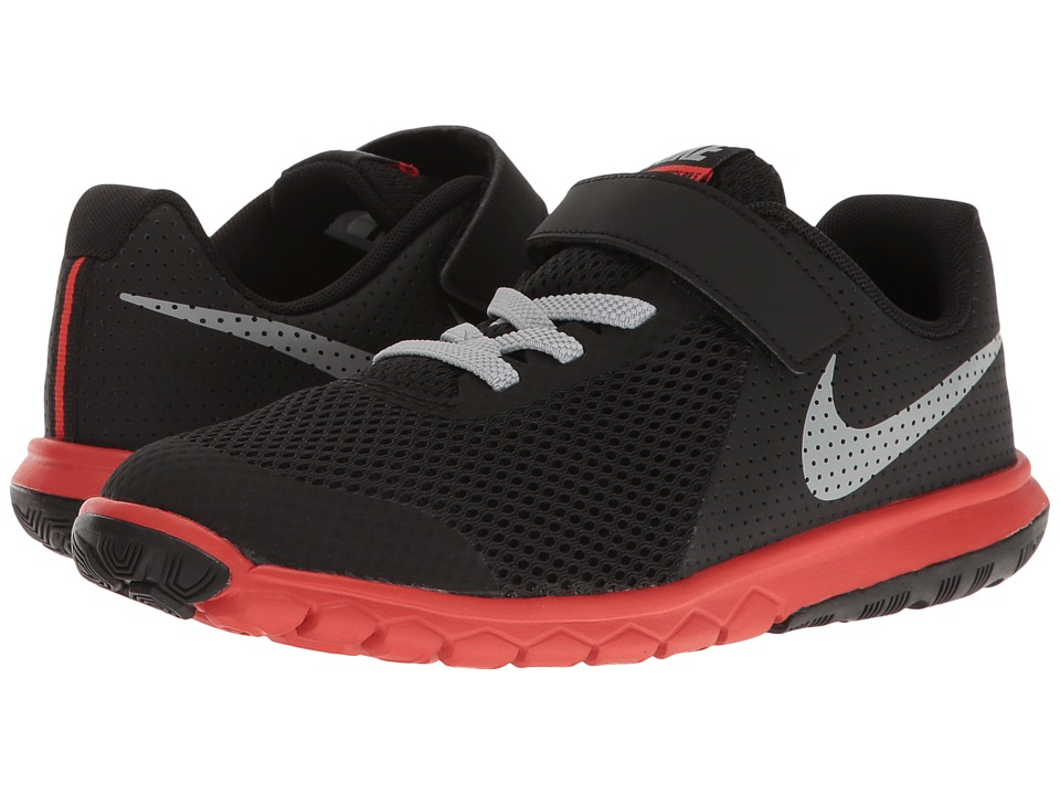 Nike Kids - Flex Experience 5 (Little Kid) (Black/Wolf Grey/Max Orange) Boys Shoes