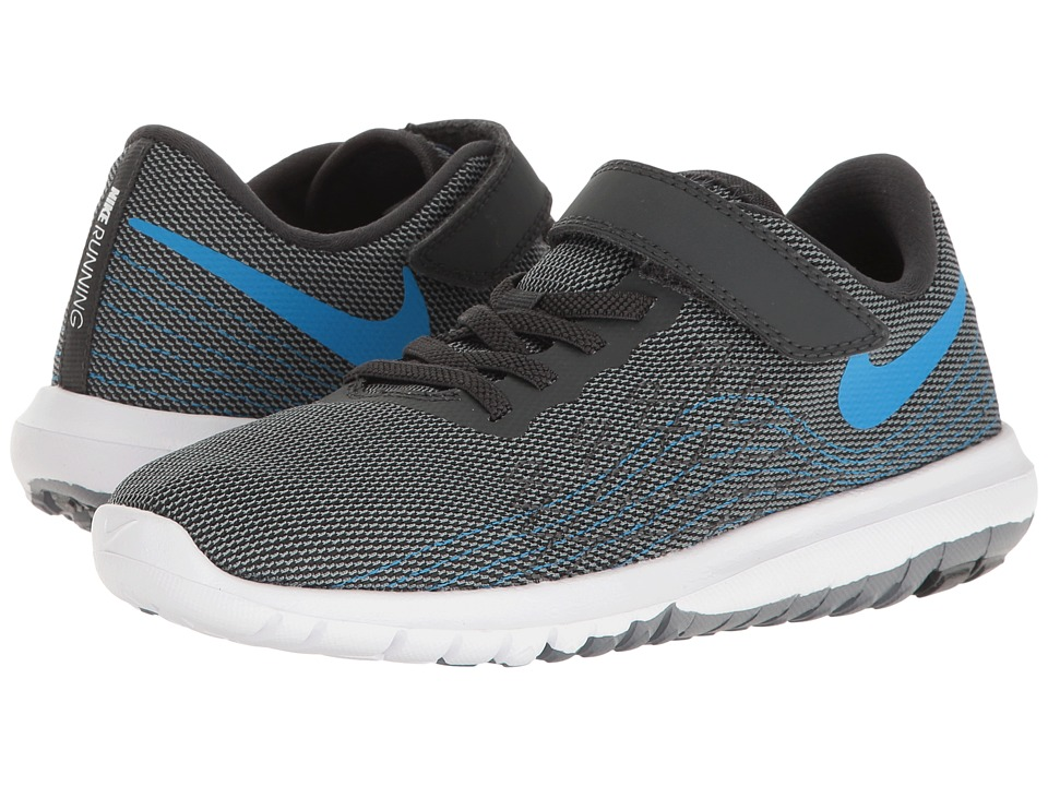 Nike Kids - Flex Fury 2 (Little Kid) (Anthracite/Photo Blue/Cool Grey/White) Boys Shoes