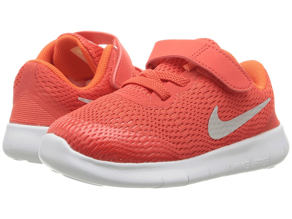 Nike Kids - Free RN (Infant/Toddler) (Max Orange/Pure Platinum/Orchid) Boys Shoes