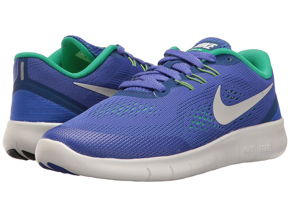 Nike Kids Free RN (Big Kid) (Paramount Blue/Pure Platinum) Boys Shoes