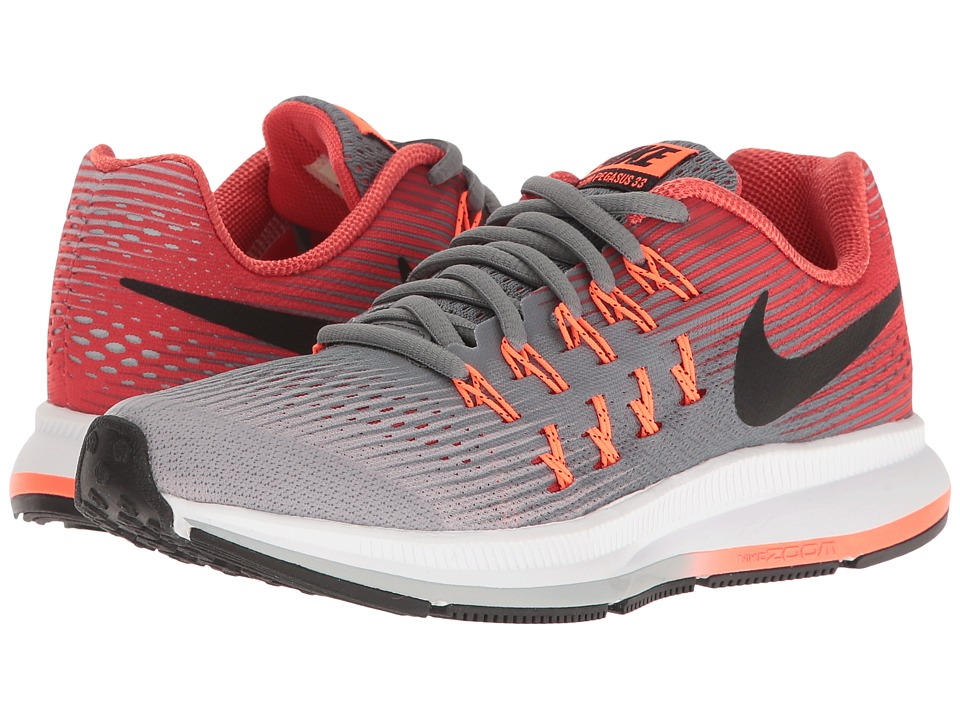 Nike Kids - Zoom Pegasus 33 (Little Kid/Big Kid) (Cool Grey/Black/Wolf Grey/Track Red) Boys Shoes