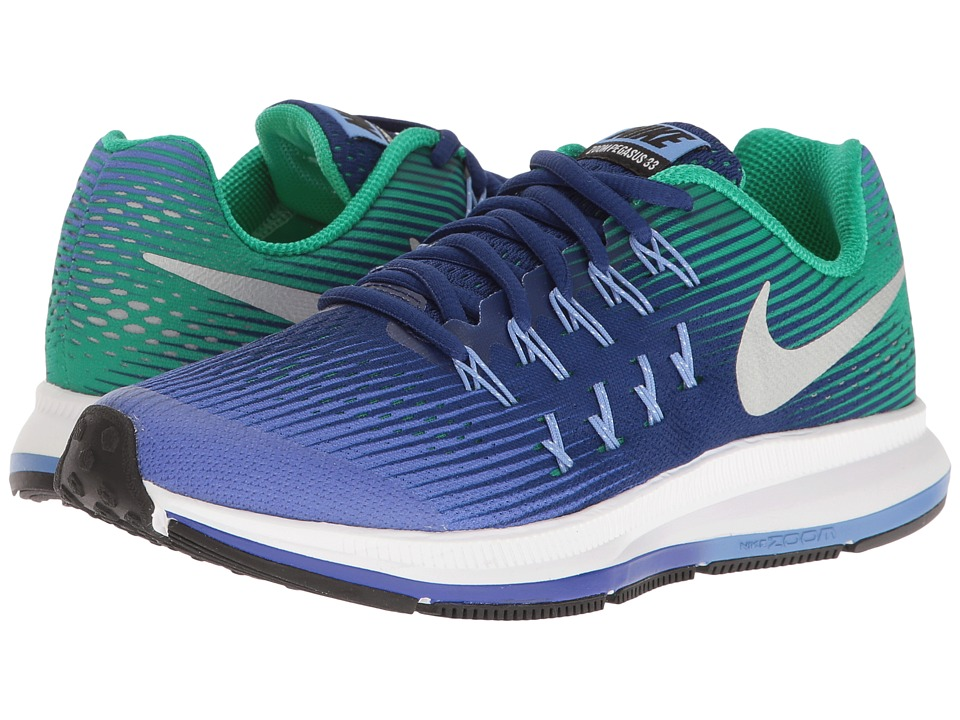 Nike Kids - Zoom Pegasus 33 (Little Kid/Big Kid) (Paramount Blue/Metallic Silver) Boys Shoes