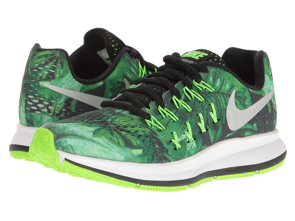 Nike Kids - Zoom Pegasus 33 Print (Big Kid) (Black/Metallic Silver/Black) Boys Shoes