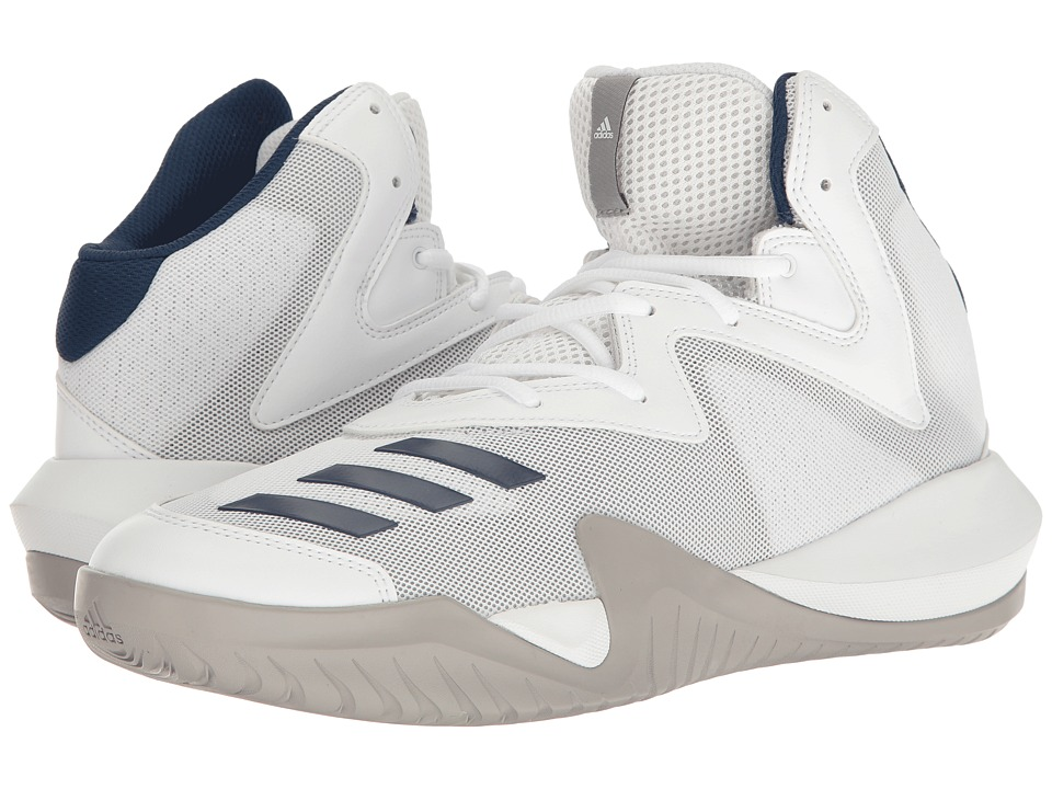 adidas - Crazy Team 2017 (Footwear White/MGH Solid Grey/Mystery Blue) Men's Basketball Shoes