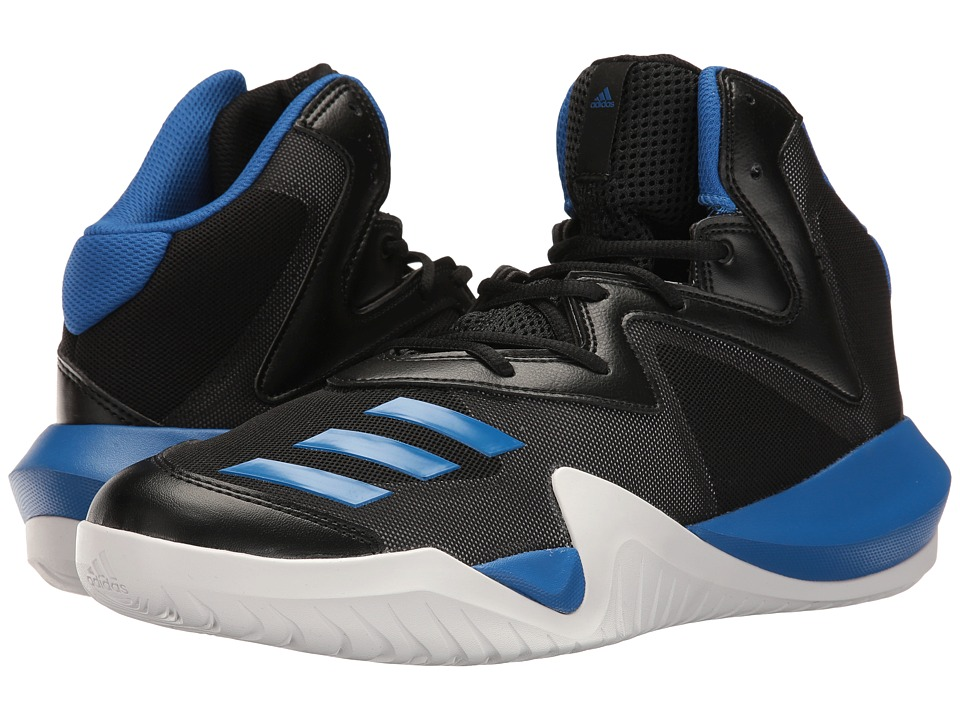 adidas - Crazy Team 2017 (Core Black/Blue/LGH Solid Grey) Men's Basketball Shoes