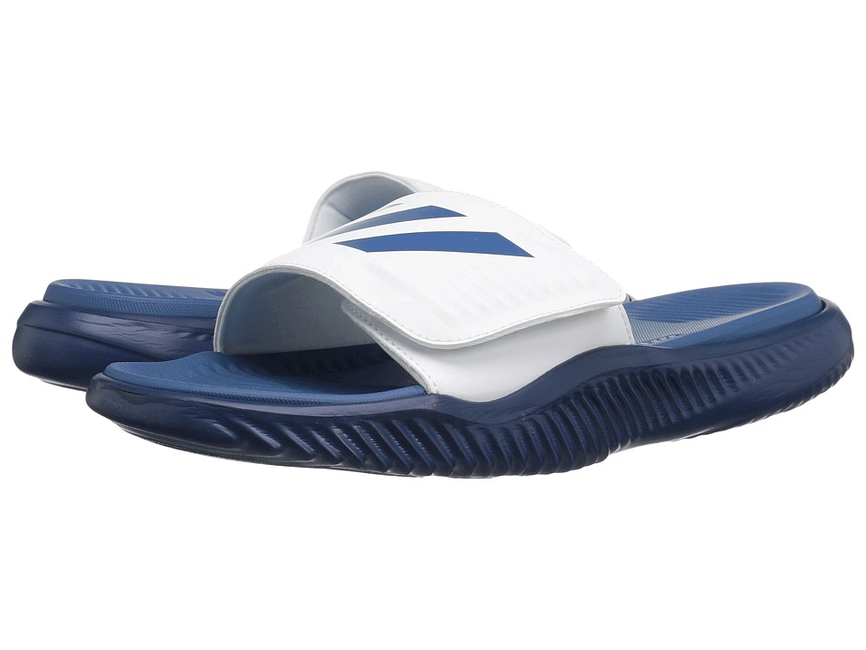 adidas - Alphabounce Slide (Footwear White/Core Blue/Mystery Blue) Men's Slide Shoes