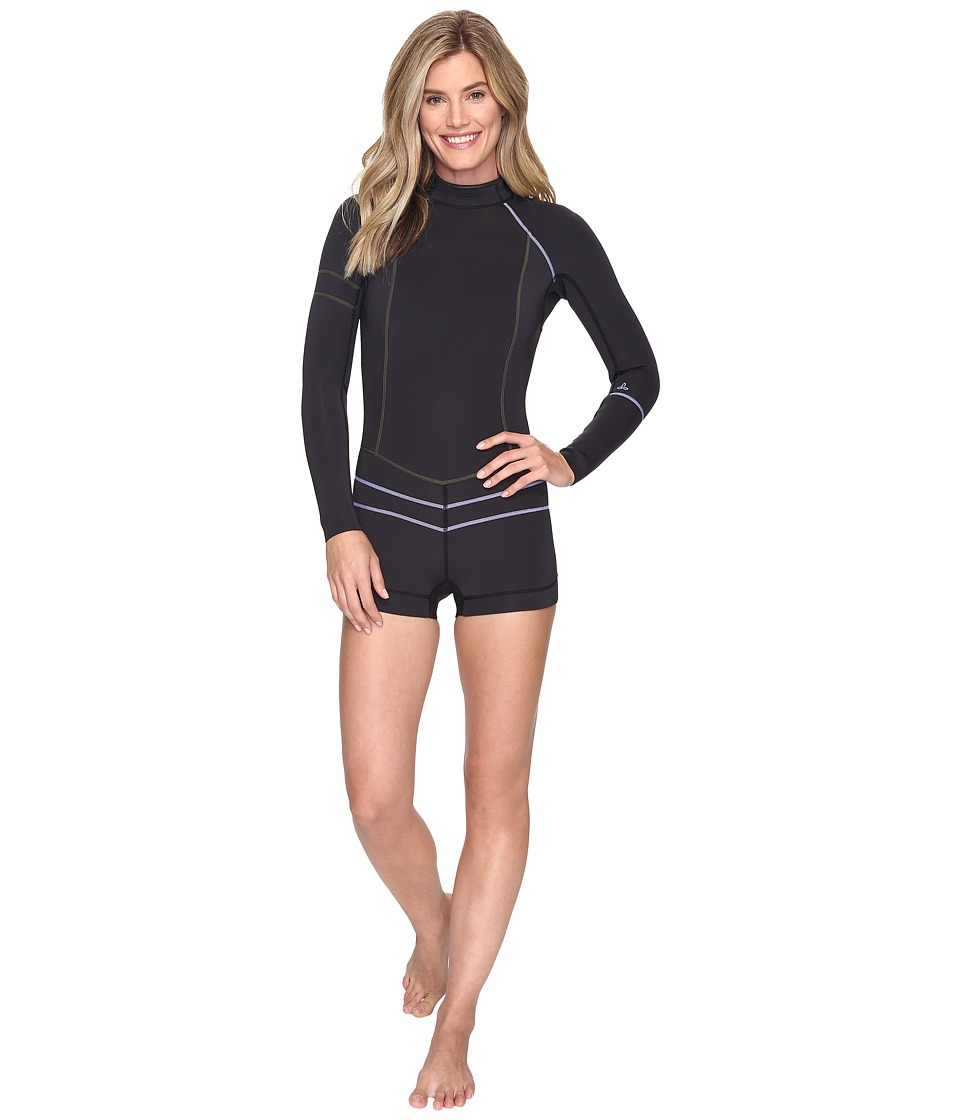 Prana - Azura Shortie (Solid Black) Women's Wetsuits One Piece