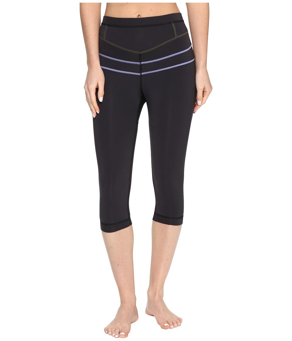 Prana - Ara Swim Tight (Solid Black) Women's Swimwear