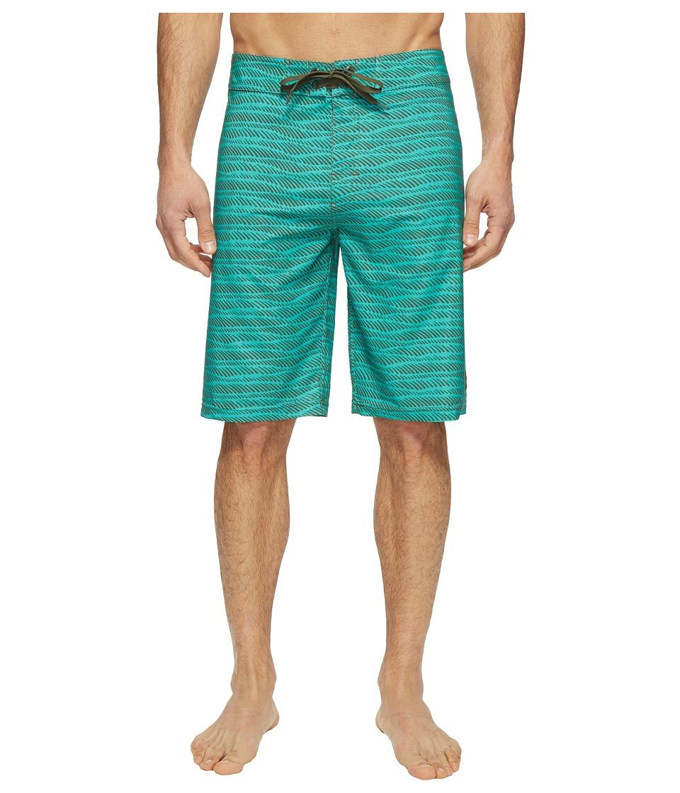 Prana - Sediment Short (Emerald Current) Men's Swimwear
