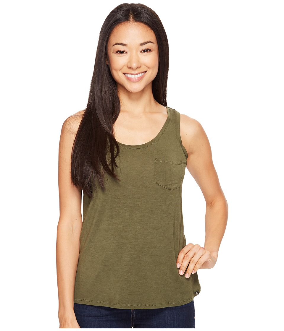 Prana - Foundation Scoop Neck Tank Top (Cargo Green) Women's Sleeveless