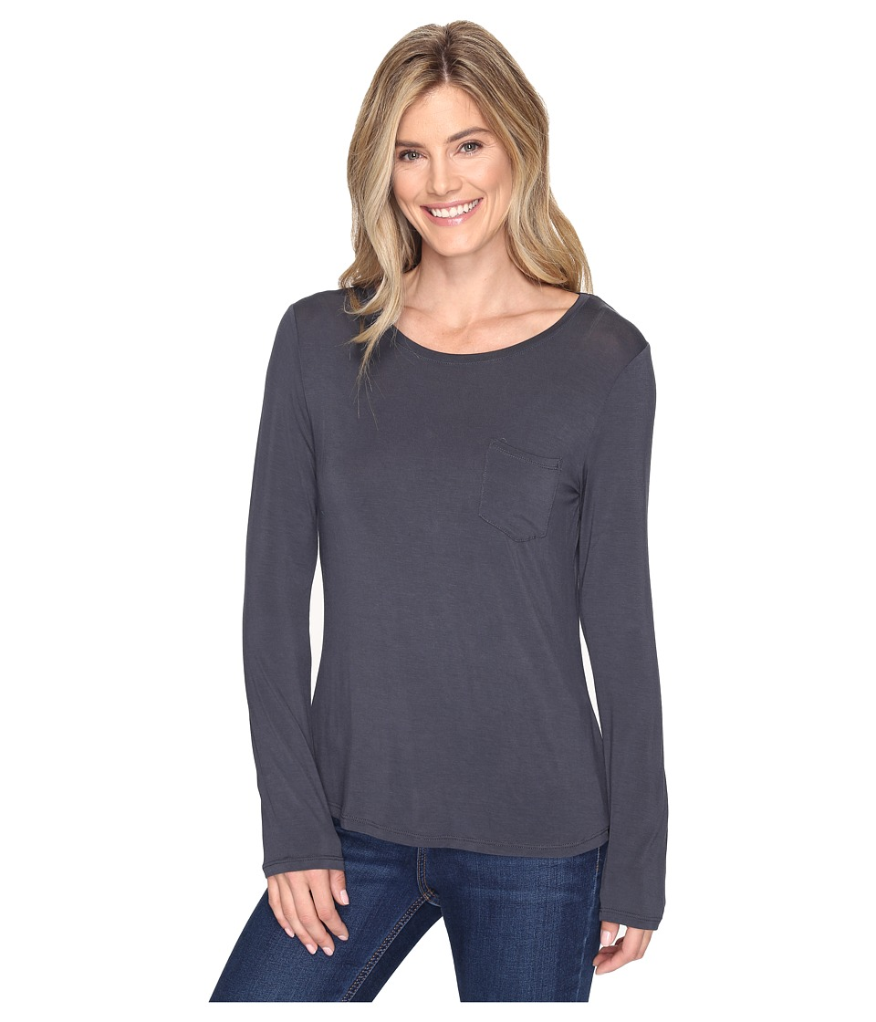 Prana - Foundation Long Sleeve Crew Neck Top (Coal) Women's Clothing