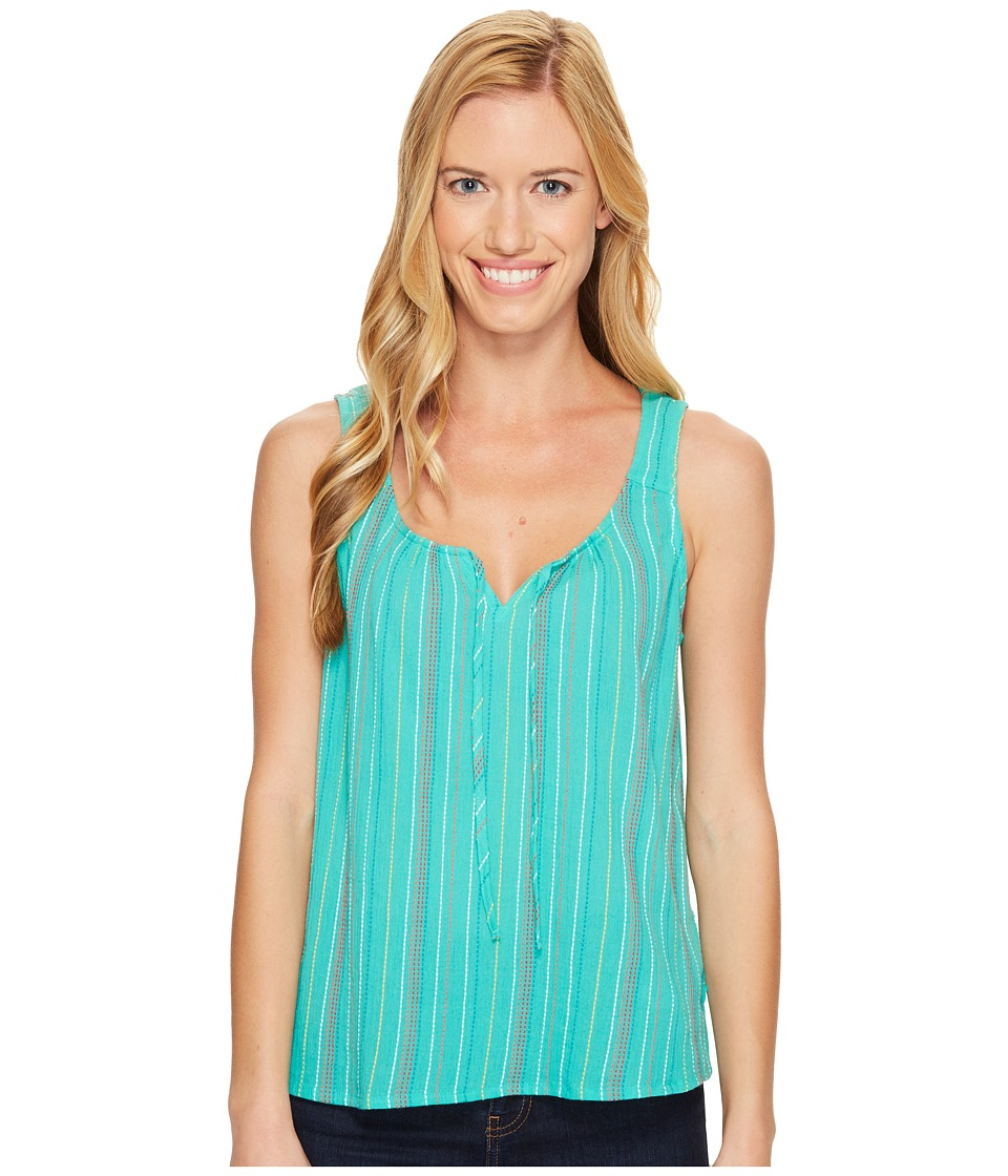 Prana - Jardin Top (Aquamarine Stripe) Women's Sleeveless