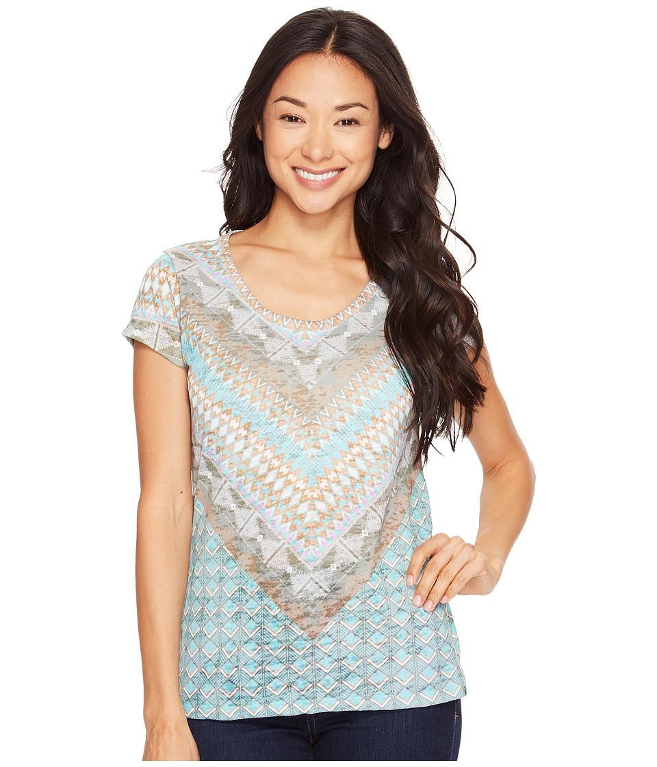 Prana - Short Sleeve Portfolio Crew Neck Top (Bora Bay Gatsy) Women's T Shirt