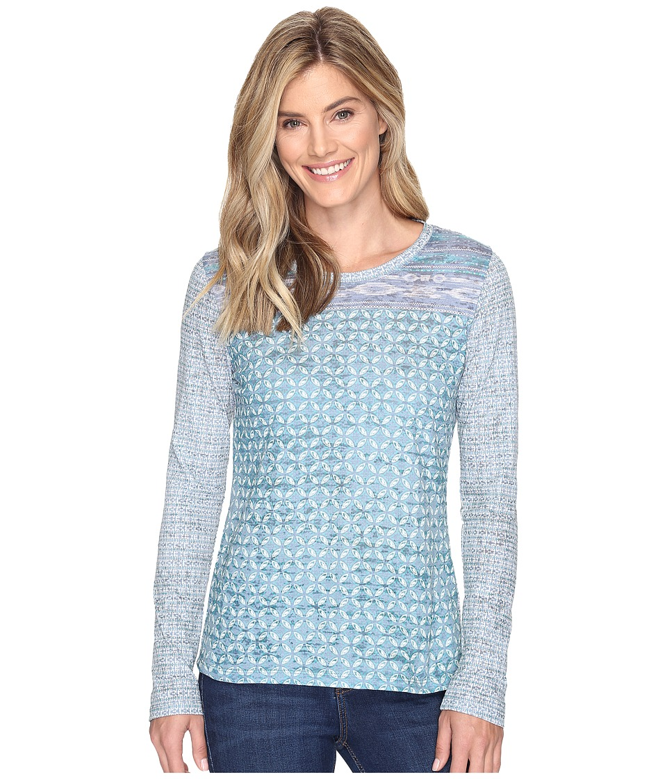 Prana - Lottie Top (Mood Indigo Milos) Women's Long Sleeve Pullover