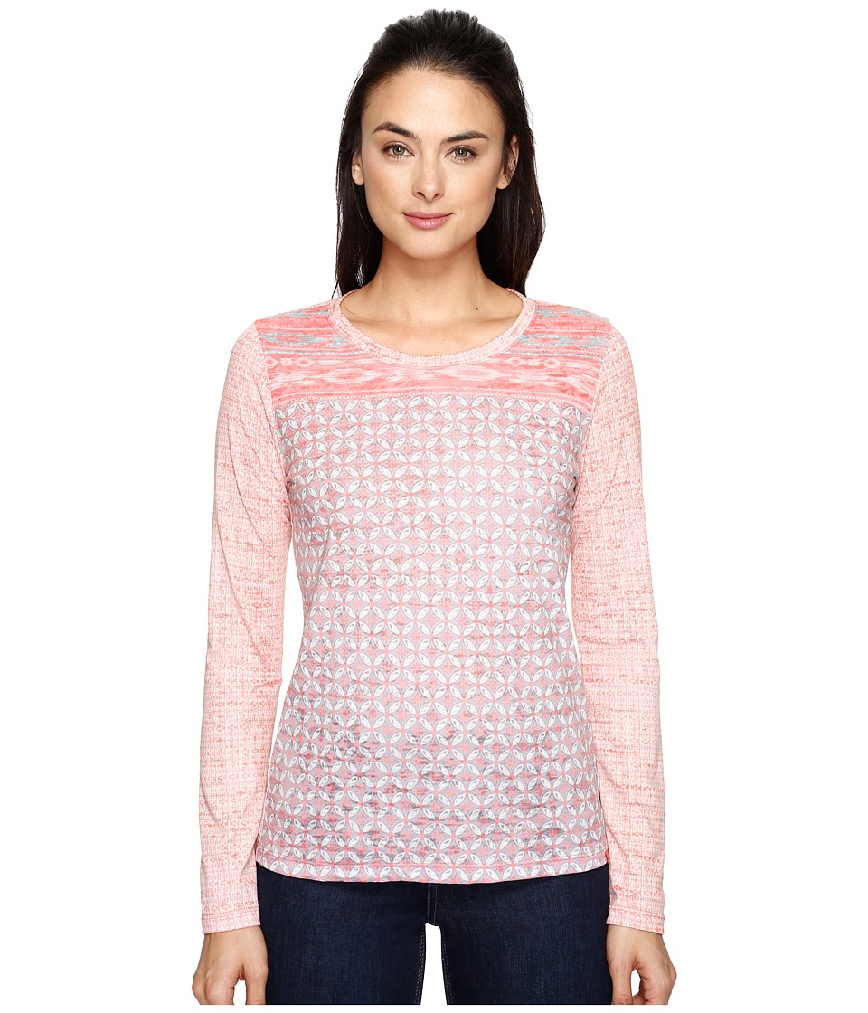 Prana - Lottie Top (Summer Peach Milos) Women's Long Sleeve Pullover
