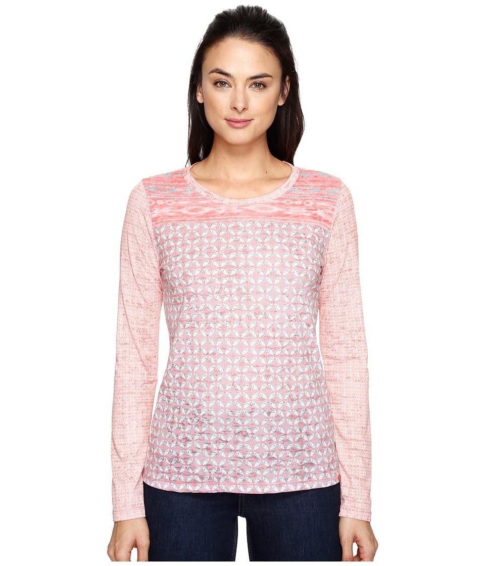 Prana - Lottie Top (Summer Peach Milos) Women's Long Sleeve Pullover