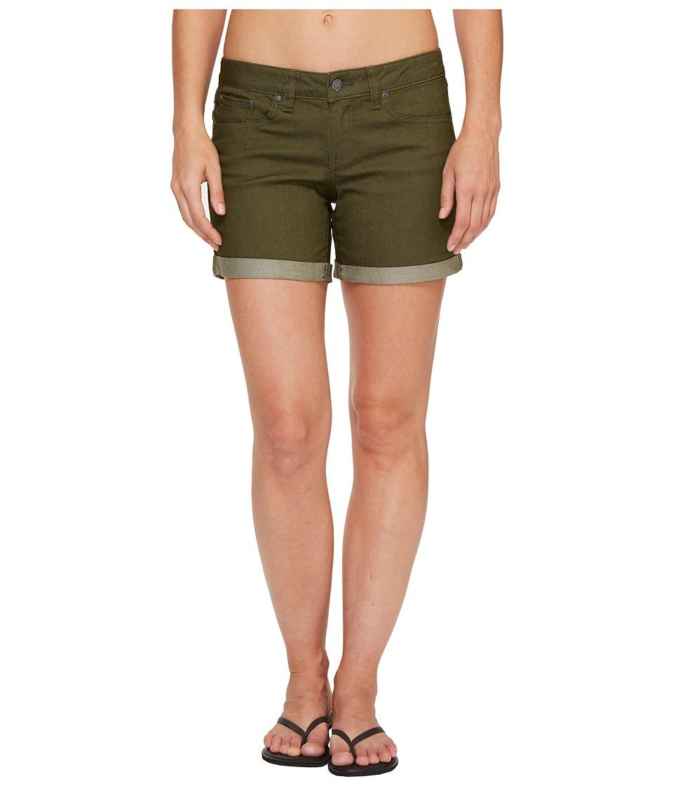 Prana - Kara Denim Short (Cargo Green) Women's Shorts