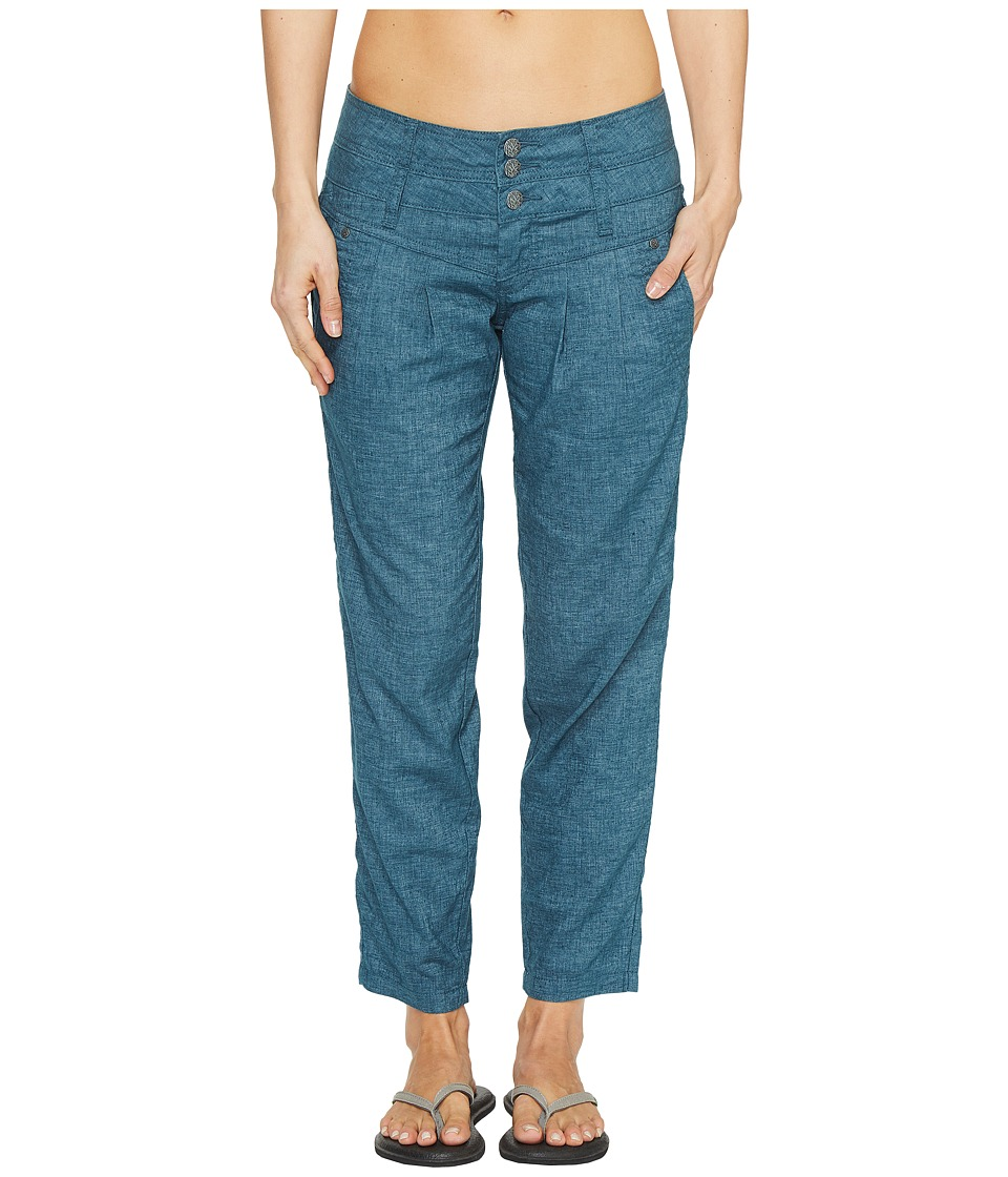 Prana - Lizbeth Capris (Mood Indigo) Women's Casual Pants