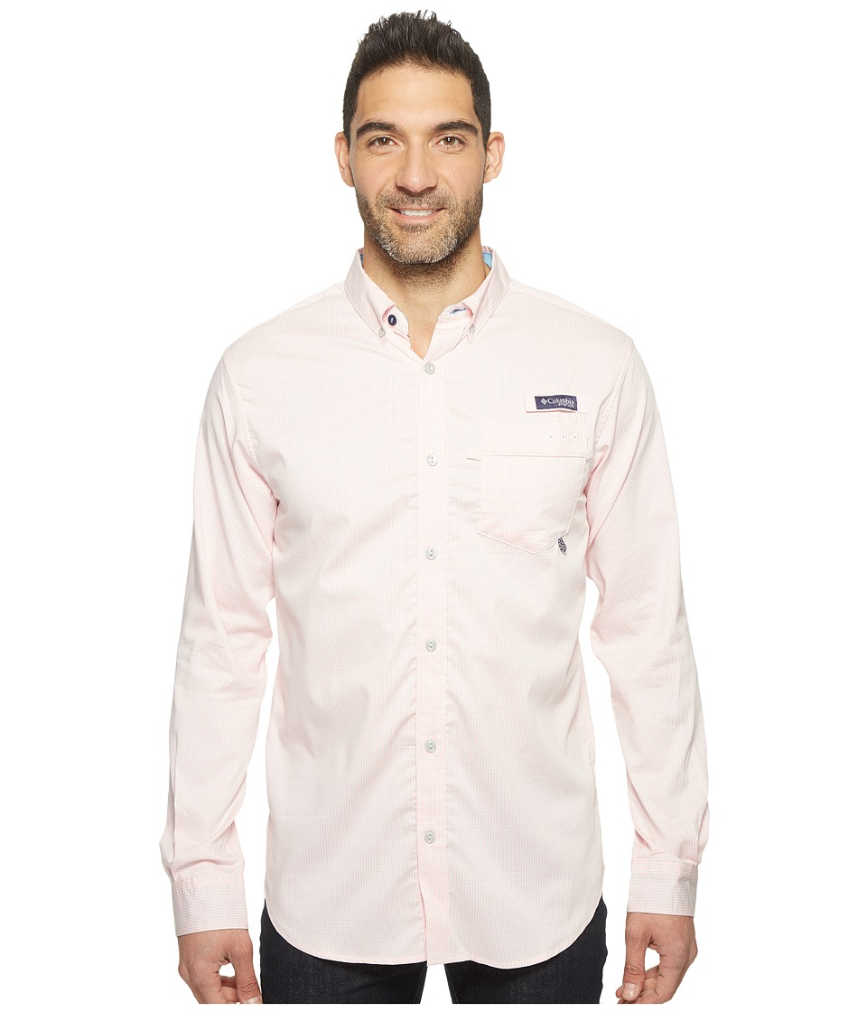 Columbia - Super Harborside Slim Fit Woven Long Sleeve Shirt (Cupid Micro Gingham) Men's Long Sleeve Button Up