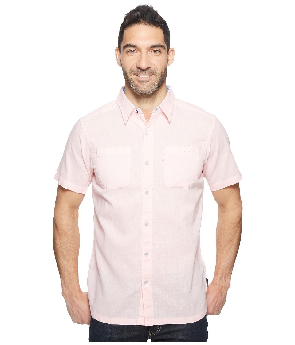Columbia - Harborside Slim Fit Linen Camp Shirt (Cupid/Yacht) Men's Short Sleeve Button Up