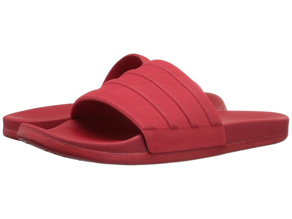 adidas - Adilette Cloudfoam Mono (Scarlet) Slide Shoes