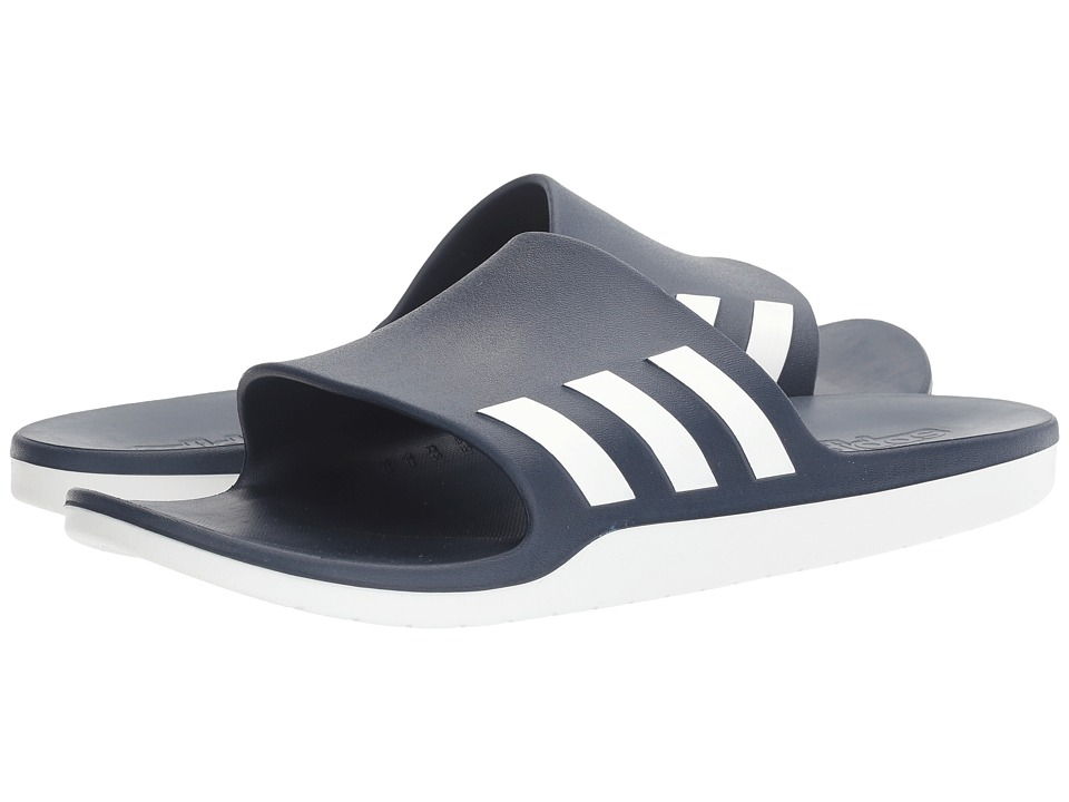 adidas - Aqualette Cloudfoam (Collegiate Navy/Footwear White) Slide Shoes