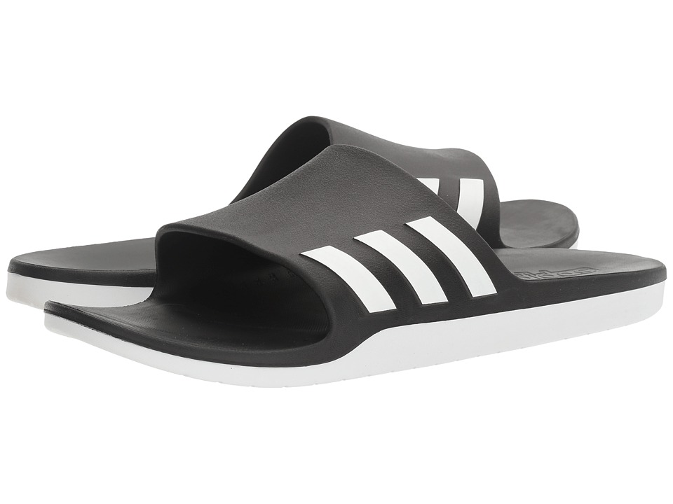 adidas - Aqualette Cloudfoam (Core Black/Footwear White) Slide Shoes