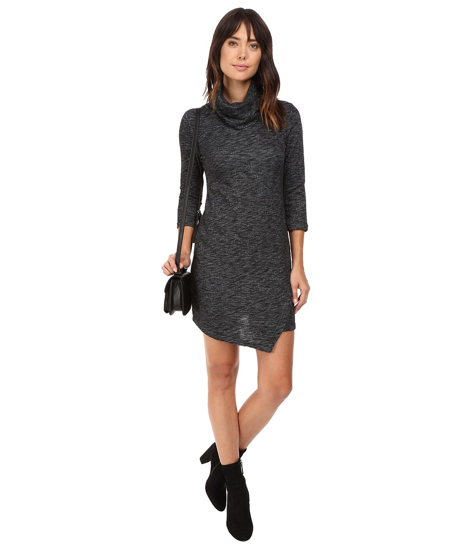 Jack by BB Dakota - Noland Knit Cowl Neck Dress (Dark Heather Grey) Women's Dress