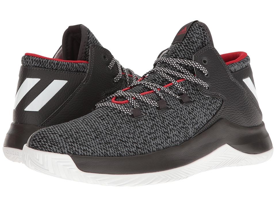 adidas - Rise Up (Dark Grey Heather/Black/White) Men's Basketball Shoes