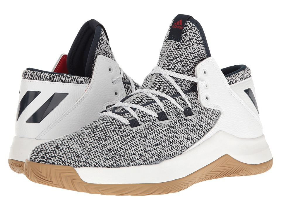 adidas - Rise Up (Grey Heather/Navy/White) Men's Basketball Shoes
