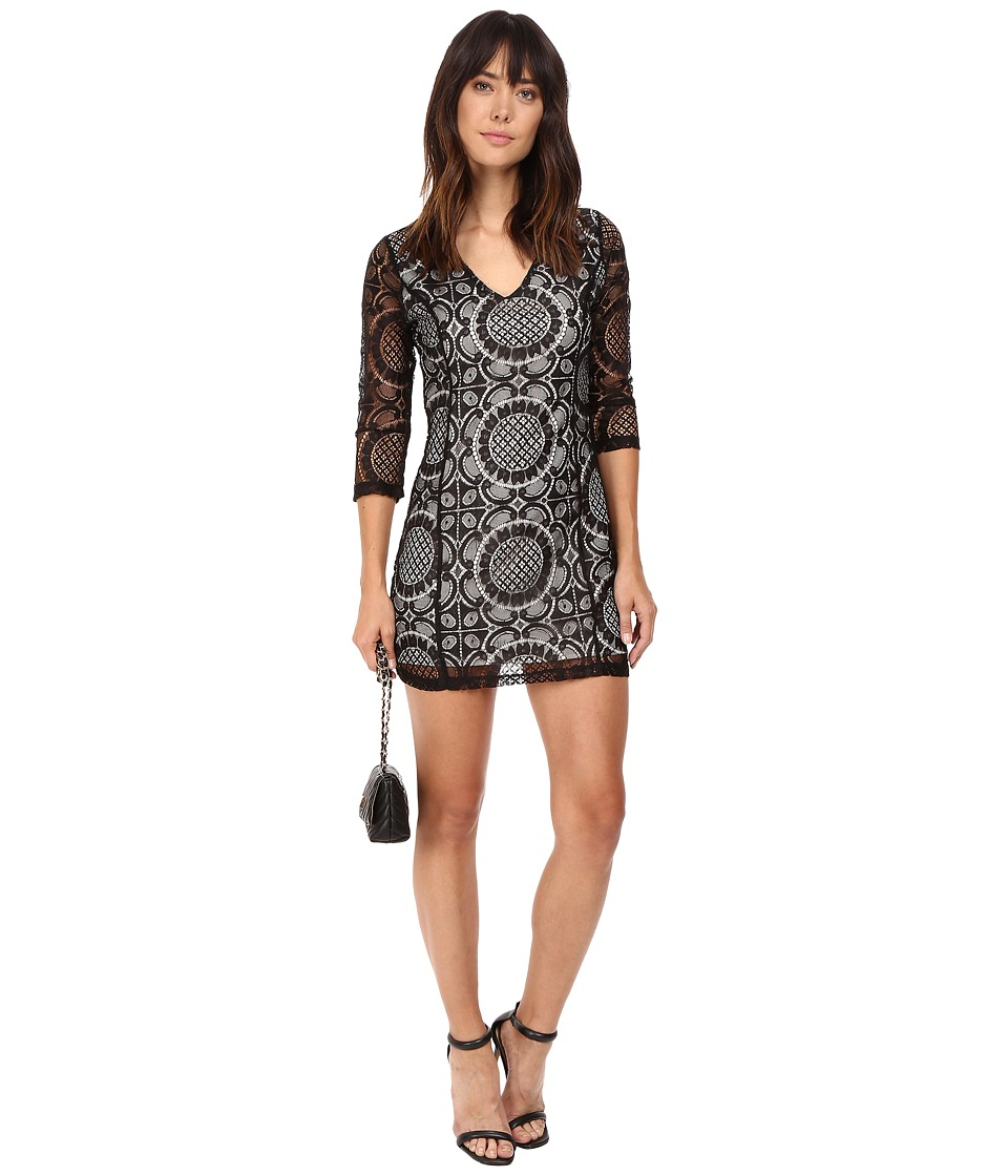 Jack by BB Dakota - Yazmin Lace Dress w/ Contrast Lining (Black) Women's Dress