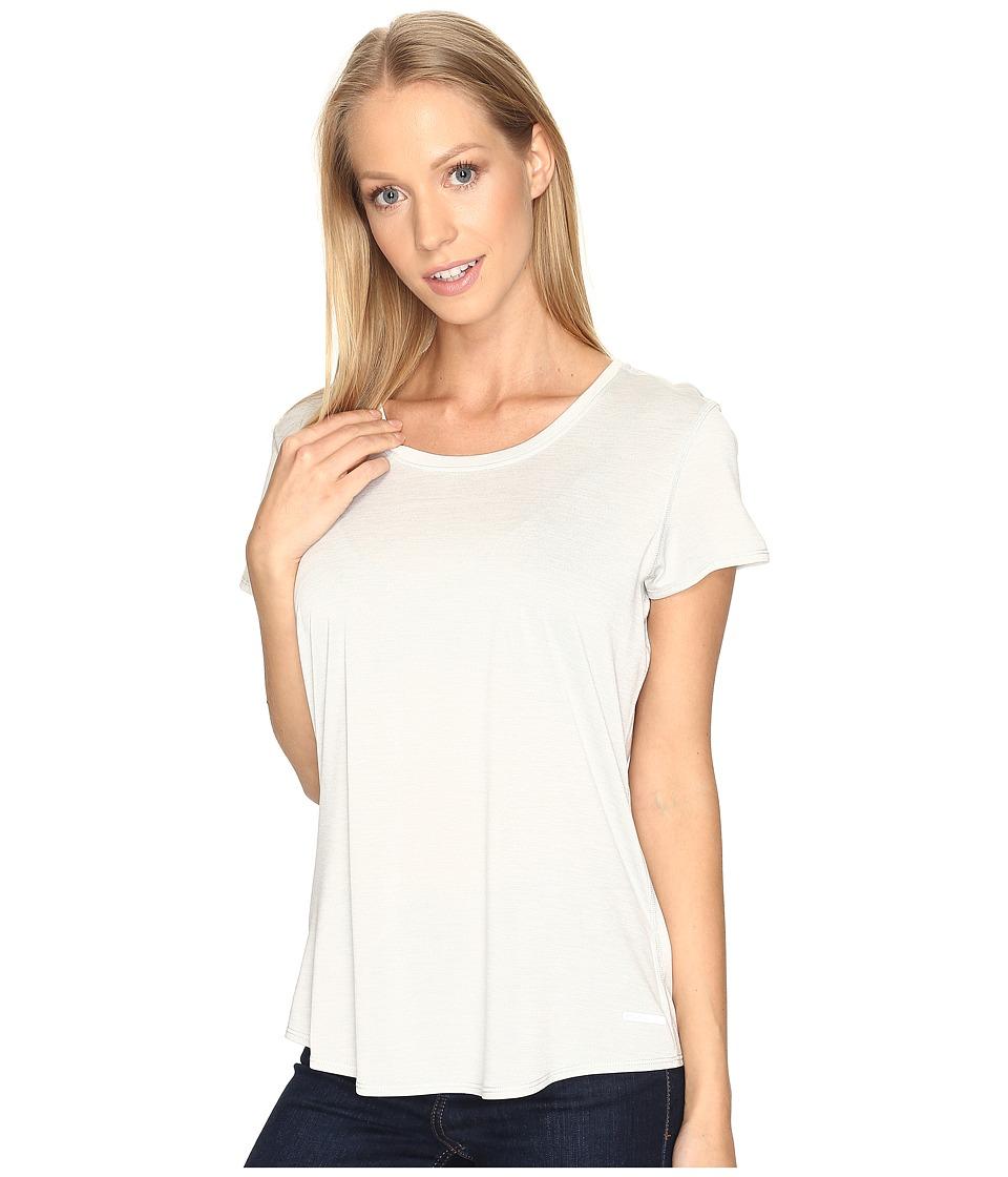 Prana - Revere Short Sleeve Tee (Silver) Women's T Shirt