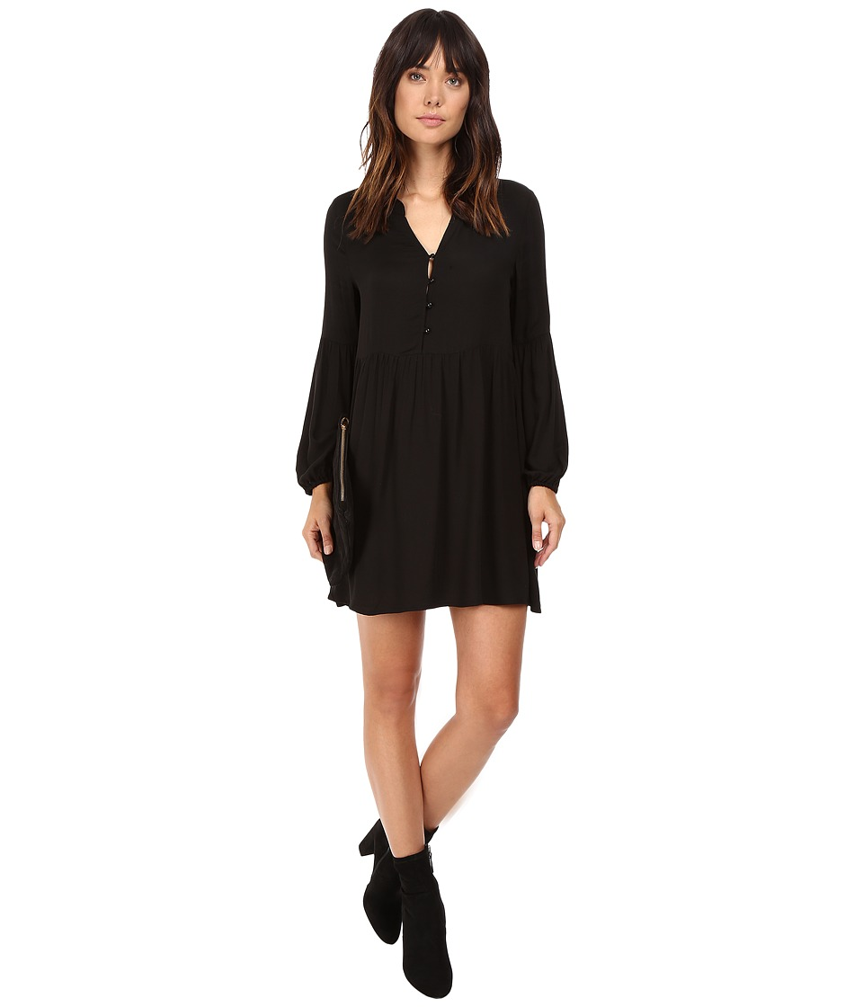 Jack by BB Dakota - Jerrilyn Rayon Crepe Long Sleeve Dress (Black) Women's Dress