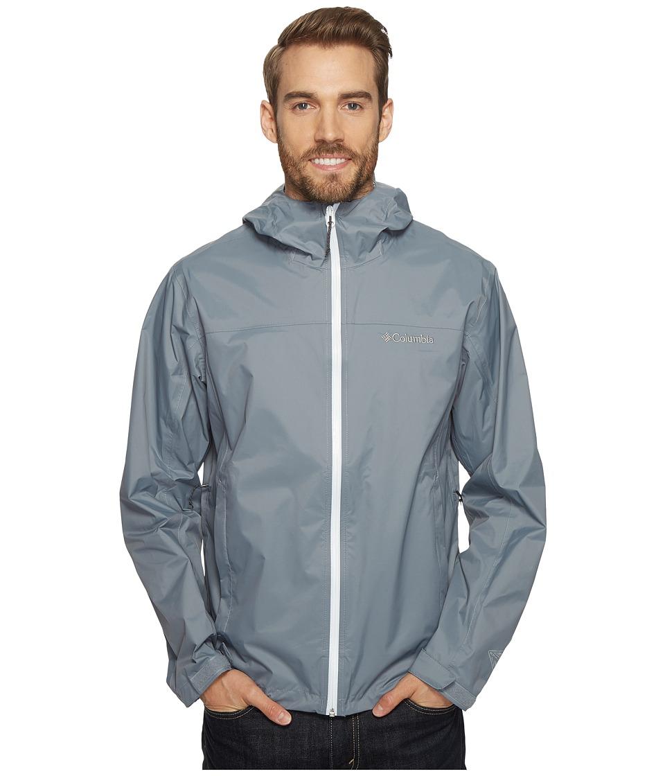 Columbia EvaPOURationtm Jacket (Grey Ash/White) Men